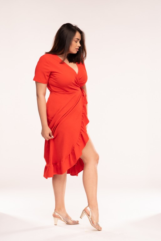 JERSEY WRAP DRESS WITH FRILL - Image 4