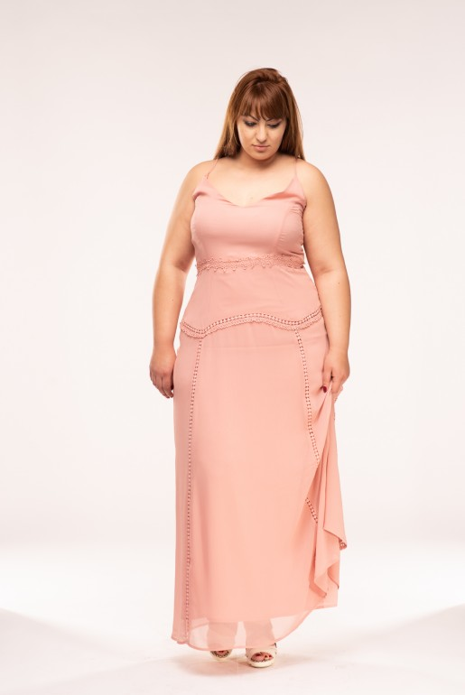 CAMI MAXI DRESS WITH TRIMS