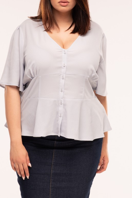 WAIST DETAIL BUTTON THROUGH BLOUSE