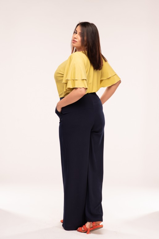 WIDE LEG TROUSER WITH BUTTON FRONT - Image 3