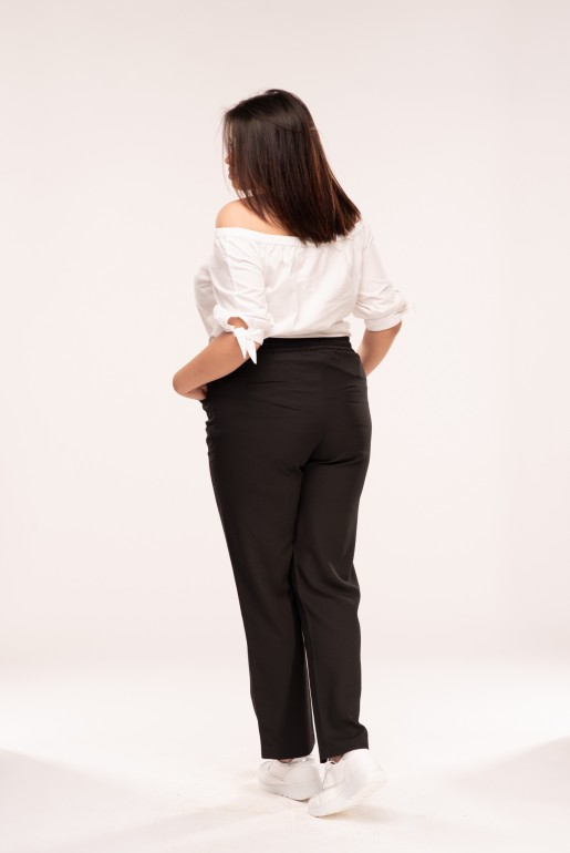 PEG TROUSER WITH TIE - Image 3