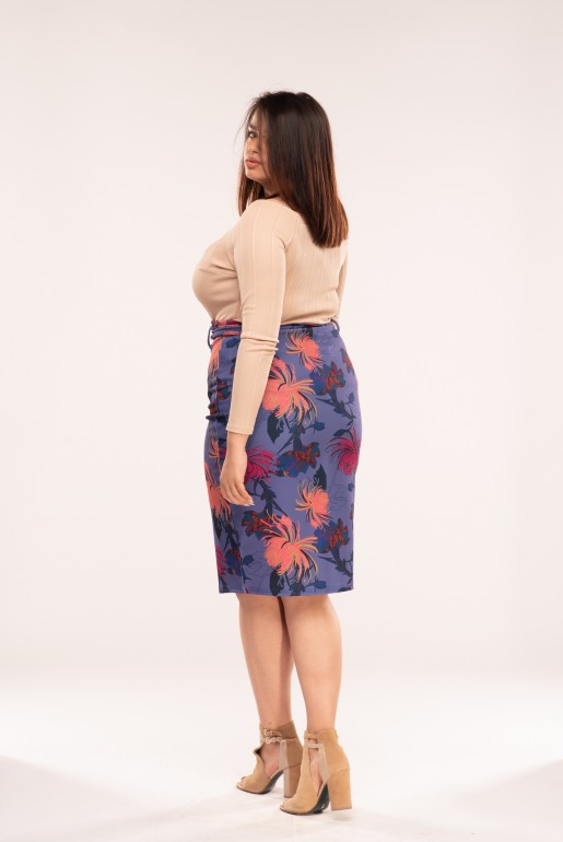 PENCIL SKIRT IN FOXTROT FLORAL - Image 3