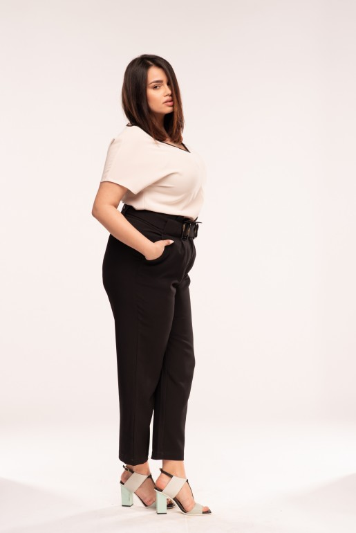 PEG TROUSER WITH DOUBLE BUCKLE - Image 3