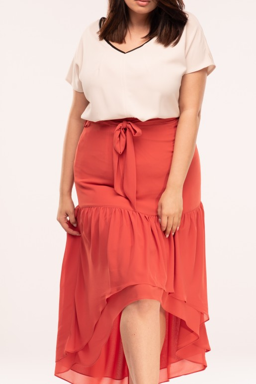 MAXI SKIRT WITH ASYM FRILLS - Image 2