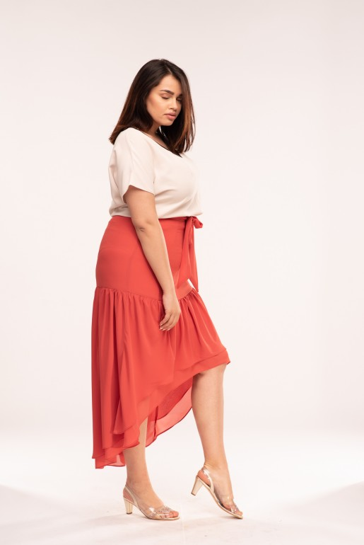 MAXI SKIRT WITH ASYM FRILLS - Image 3