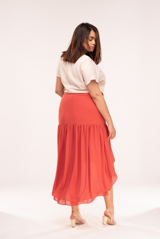MAXI SKIRT WITH ASYM FRILLS - Image 4