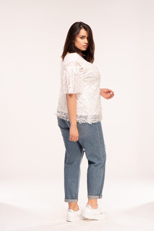 TEE WITH WHITE SEQUINS - Image 3