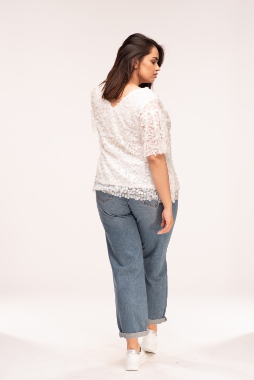 TEE WITH WHITE SEQUINS - Image 4
