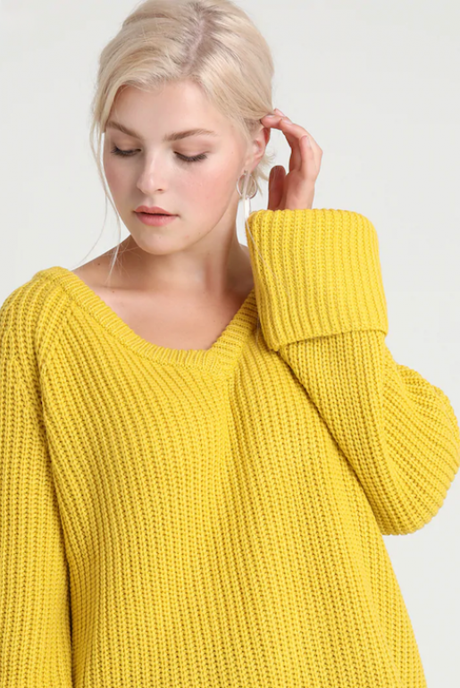 CHUNKY JUMPER WITH V NECK - Image 4