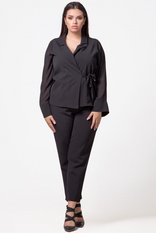 WRAP TOP WITH TIE DETAIL - Image 2