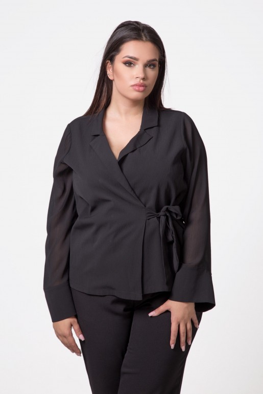 WRAP TOP WITH TIE DETAIL - Image 3