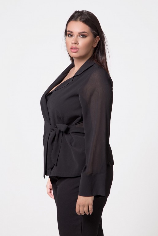 WRAP TOP WITH TIE DETAIL