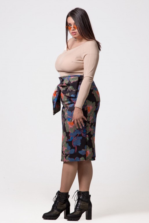 PENCIL SKIRT IN IVY FLORAL
