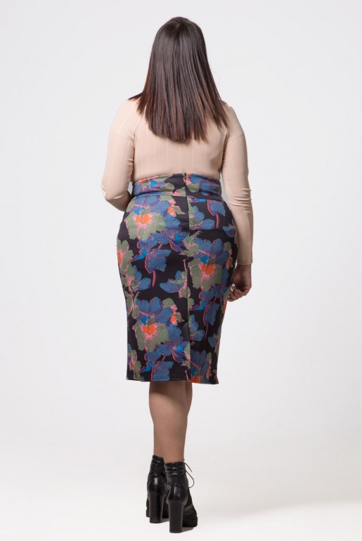 PENCIL SKIRT IN IVY FLORAL - Image 3