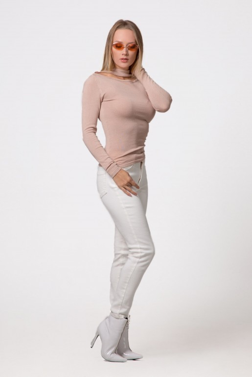 SPLIT FRONT NECK JUMPER - Image 3