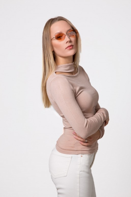 SPLIT FRONT NECK JUMPER - Image 4