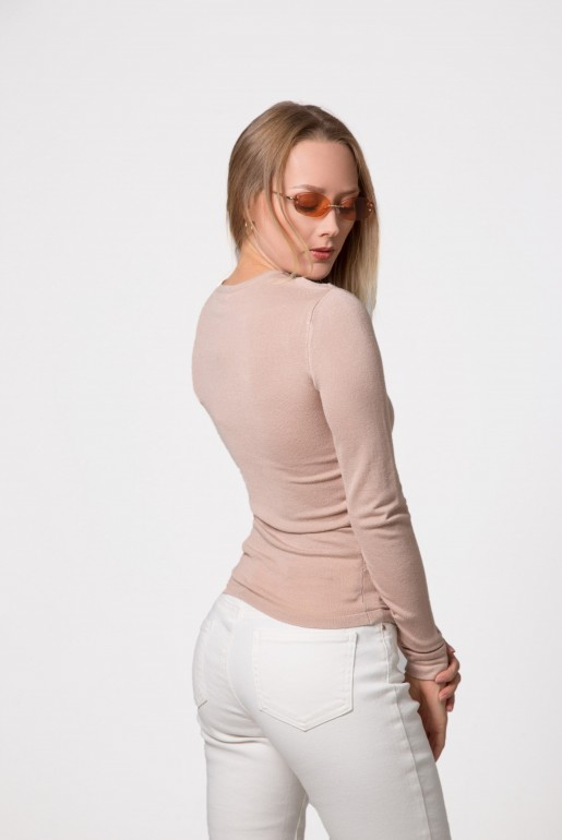 SPLIT FRONT NECK JUMPER - Image 5
