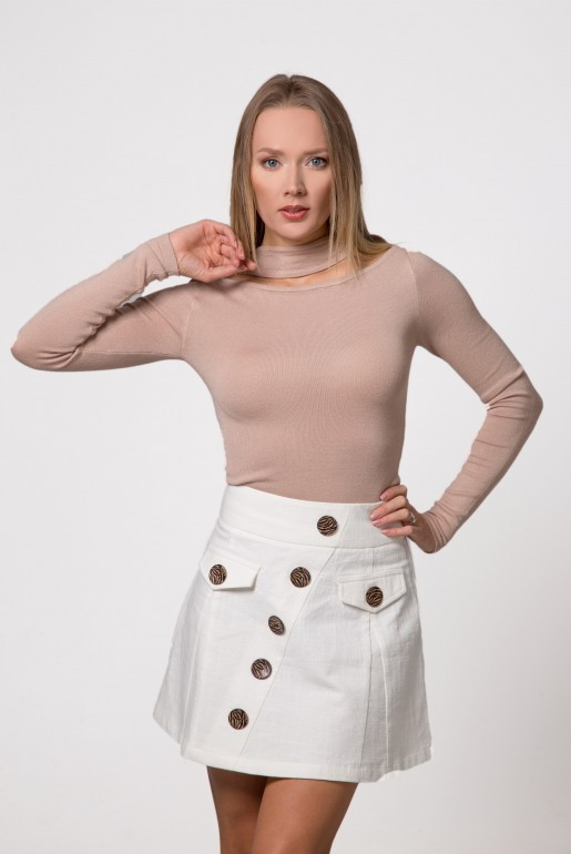 MINI SKIRT WITH CONTRAST BUTTONS