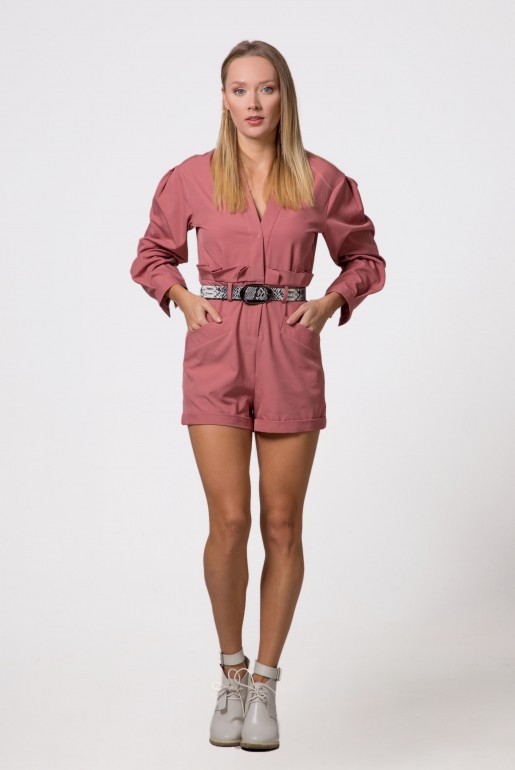 PLAYSUIT WITH BELT DETAIL - Image 3
