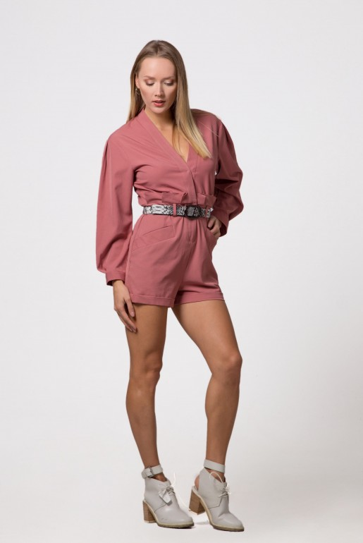 PLAYSUIT WITH BELT DETAIL - Image 4