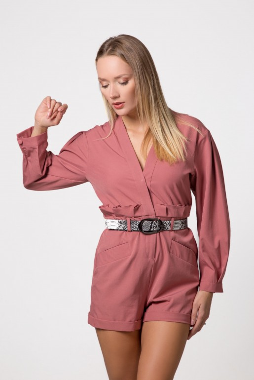 PLAYSUIT WITH BELT DETAIL - Image 6