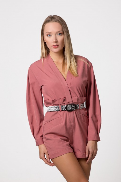 PLAYSUIT WITH BELT DETAIL
