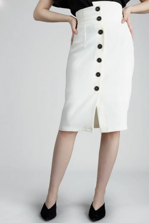 PENCIL SKIRT WITH CONRAST BUTTONS - Image 3