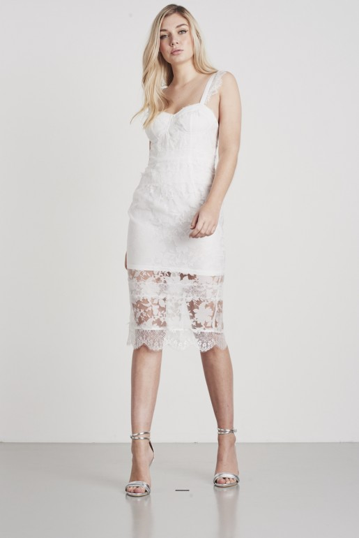 ORGANZA LACE BUSTCUP DRESS