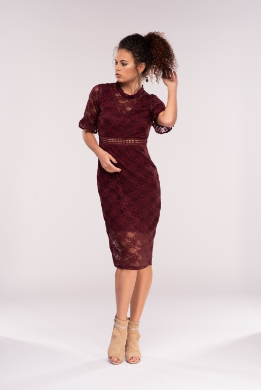 Lace Mix Bodycon Dress