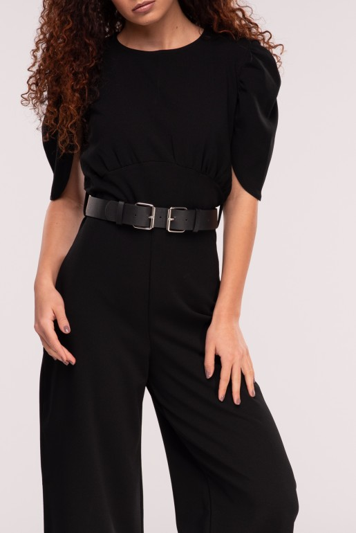 JUMPSUIT WITH DOUBLE BUCKLE BELT - Image 4