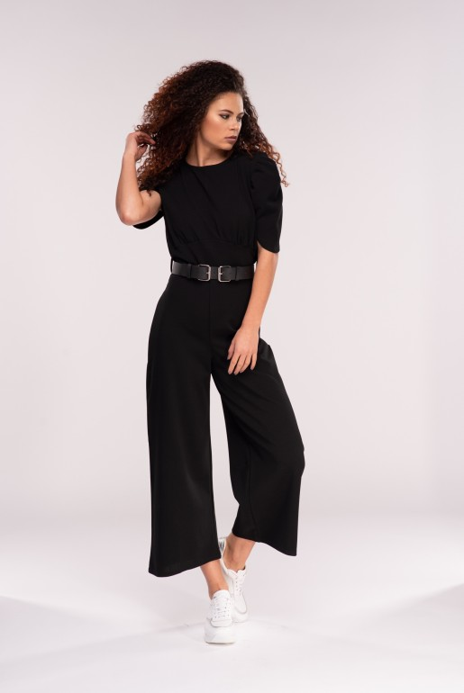 JUMPSUIT WITH DOUBLE BUCKLE BELT