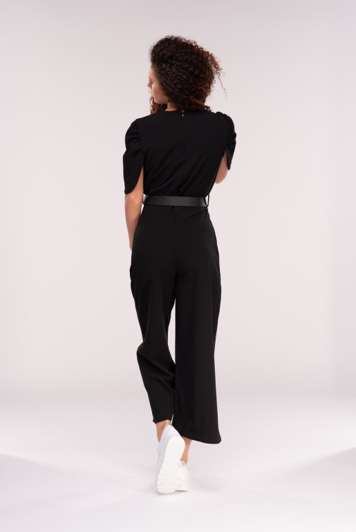 JUMPSUIT WITH DOUBLE BUCKLE BELT - Image 3