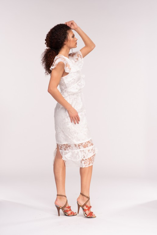 STRUCTURED ORGANZA BODYCON DRESS - Image 3