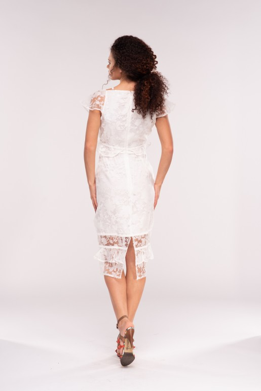 STRUCTURED ORGANZA BODYCON DRESS - Image 4