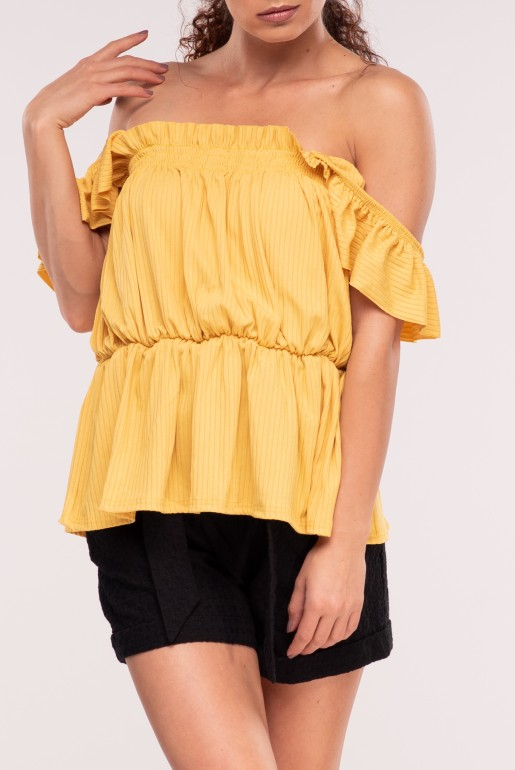 SMOCK TOP WITH RUFFLE STRAPS - Image 4