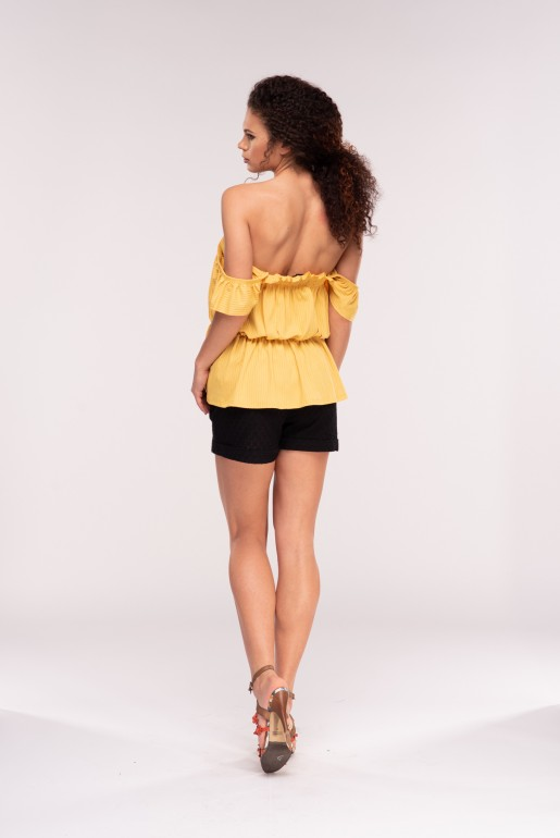 SMOCK TOP WITH RUFFLE STRAPS - Image 3