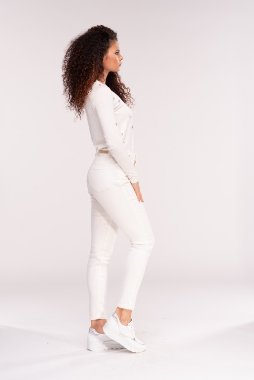 MID RISE SKINNY IN WHITE ROSE - Image 3