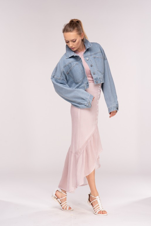 DENIM CROP OVERSIZE JACKET