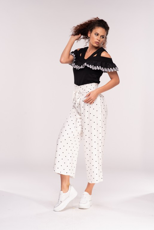 POLKA DOT CROP TROUSER