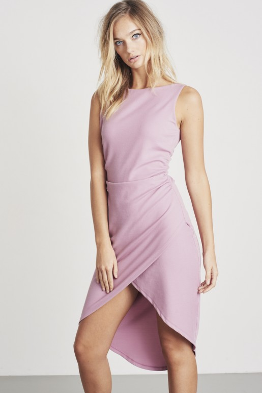 MIDI BODYCON DRESS WITH CUT OUT TIE BACK
