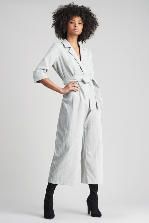 TAILORED STRIPE JUMPSUIT